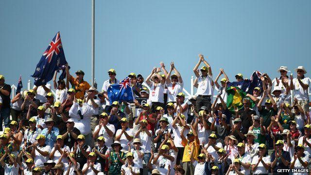 Australian fans at Trent Bridge