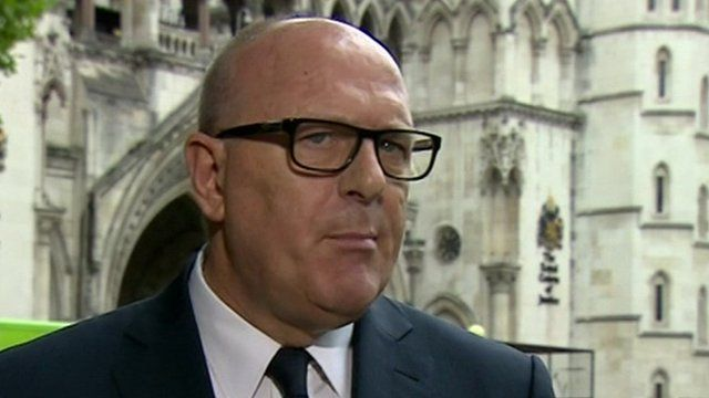 Peter Cruddas spoke to journalists after he won his libel case against The Sunday Times