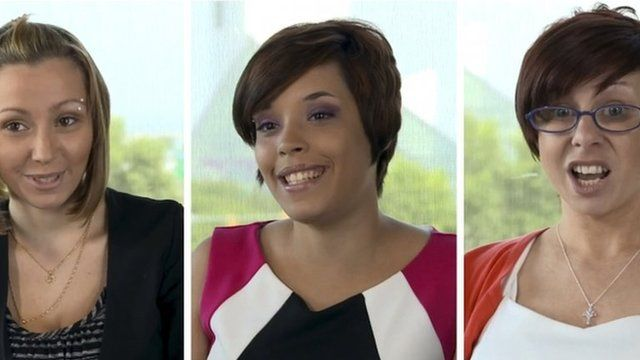Composite of Amanda Knight, Gina DeJesus and Michelle Knight