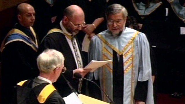 Rouhani's graduation in Glasgow