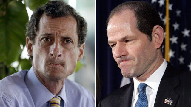 Anthony Weiner and Elliot Spitzer