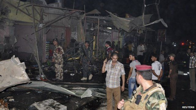 Security forces at site of attack in Nasiriyah city, south of Baghdad