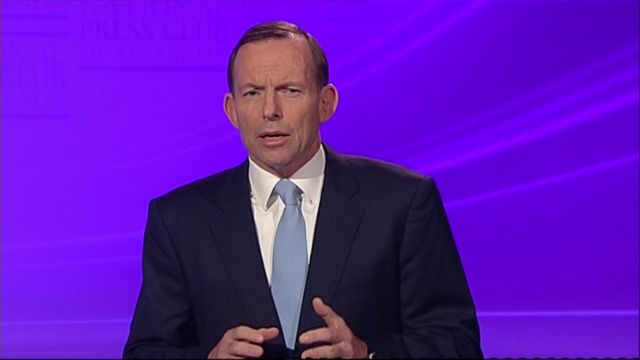 Leader of the opposition, Tony Abbott of the Liberal Party of Australia