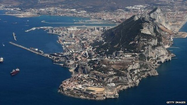 Gibraltar as seen from the air