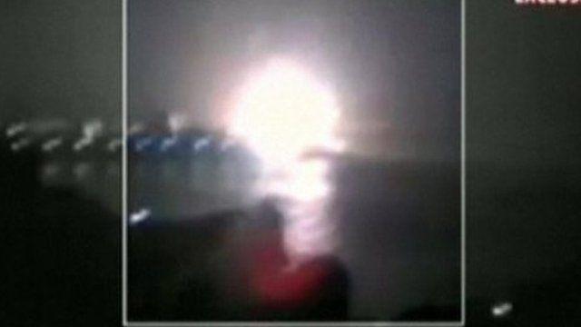 Explosion on submarine