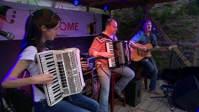 Musicians at the Fleadh