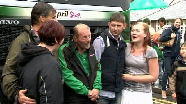 Lorry named in memory of April Jones