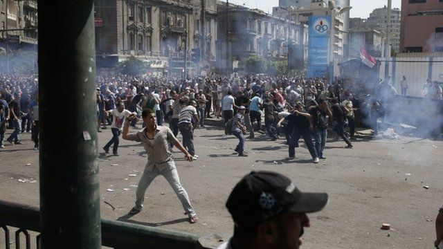 Protesters in Ramses Square