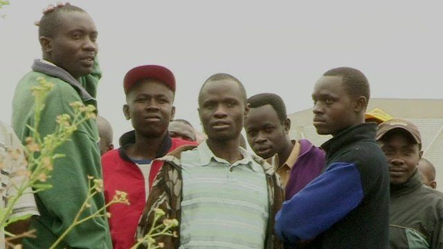 Young men in Kenya