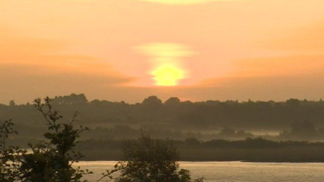 Sunrise on the Colne Estuary in Essex