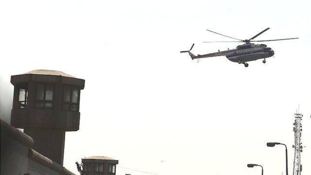 Hosni Mubarak is flown out of Tora prison in Cairo