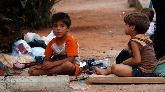 Refugee children in Lebanon