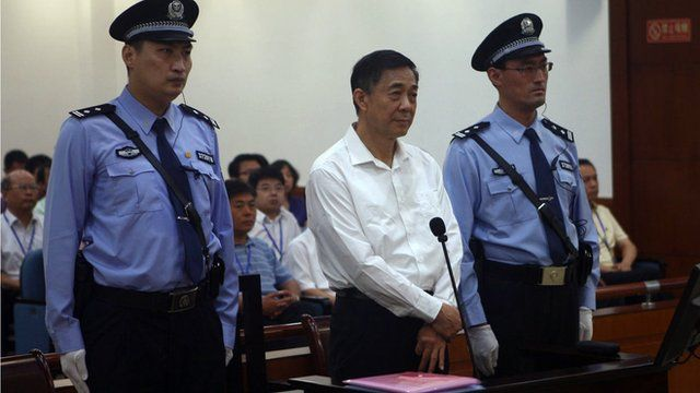 Bo Xilai flanked by guards