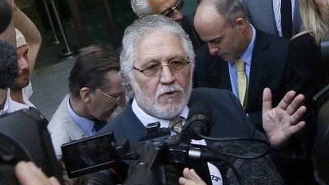 Dave Lee Travis outside court