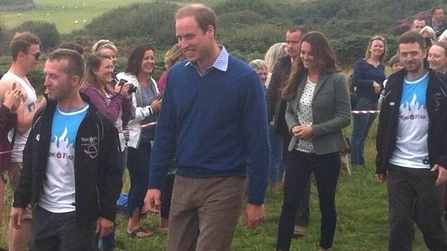 William & Kate in Anglesey