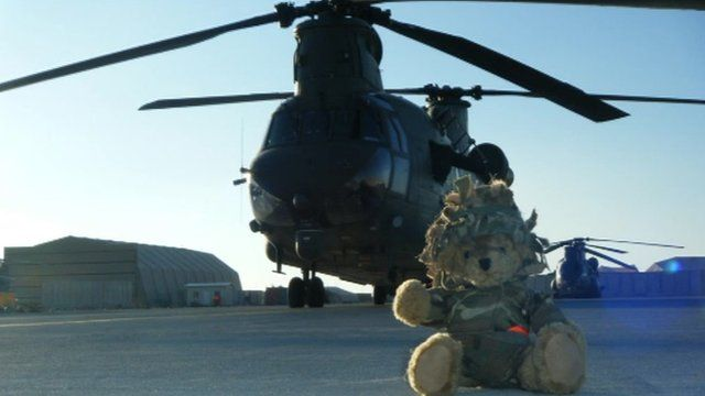 Ted with RAF helicopter