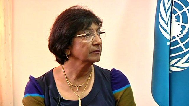 UN Human Rights Commissioner, Navi Pillay