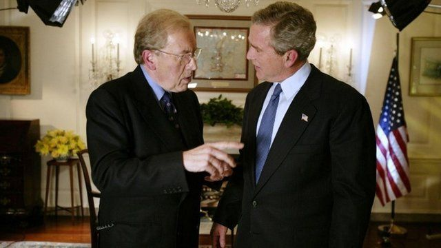 Sir David Frost with George Bush