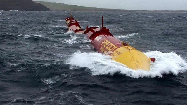 Wave energy harnessing equipment in the sea
