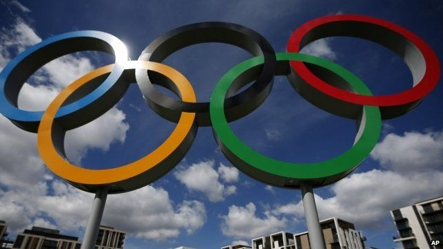 Olympic rings at 2012 games