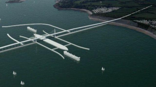 Artist's impression of proposed Severn barrage