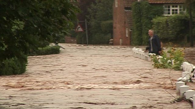 The equivalent of a month's average rainfall fell in one evening in Nottinghamshire in July