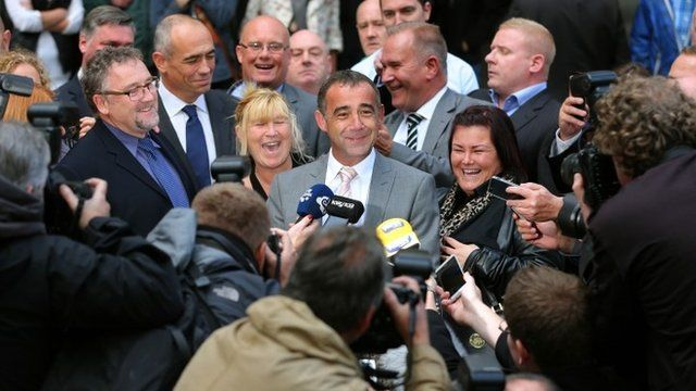 Coronation Street actor Michael Le Vell outside Manchester Crown Court after being cleared of child sex offences