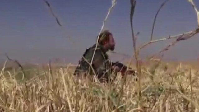 Footage purportedly showing an Iranian fighter in Syria