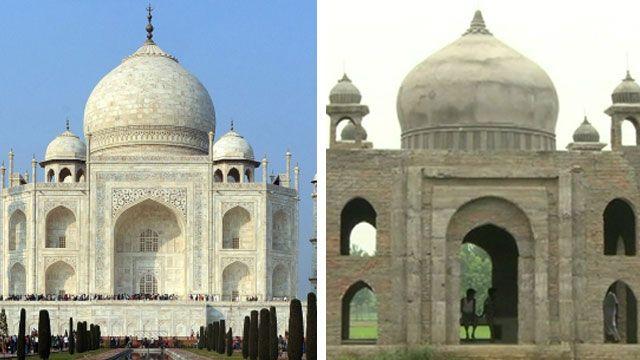Taj Mahal and Taj Mahal replica