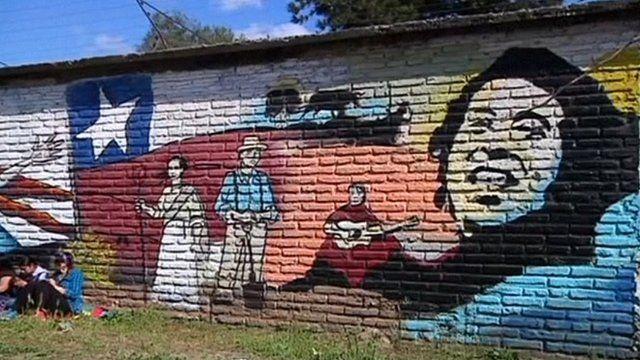 The mural commemorating Victor Jara
