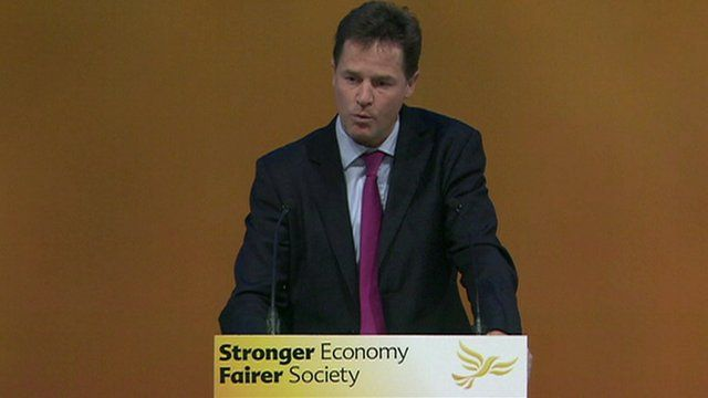 Leader of the Liberal Democrats, Nick Clegg