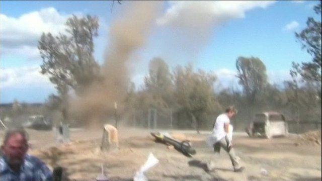 """Dust Devil"" in Northern California, US"