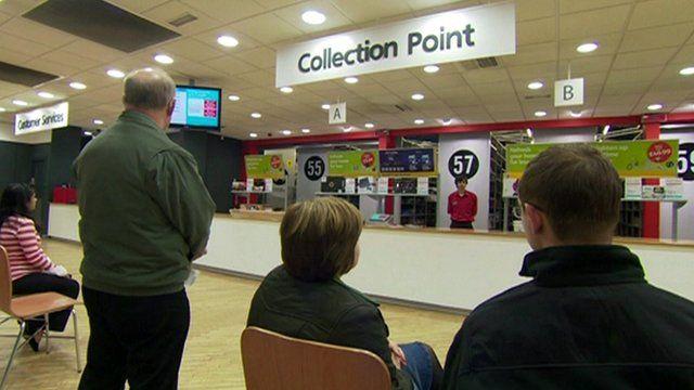 Argos collection point