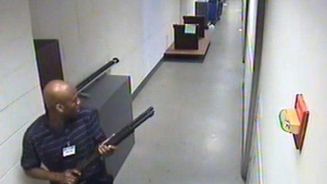 CCTV footage of gunman Aaron Alexis