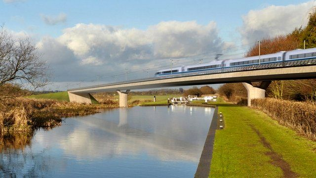 File photo issued by HS2 of the Birmingham and Fazeley viaduct, part of the new proposed route for the High Speed 2 project