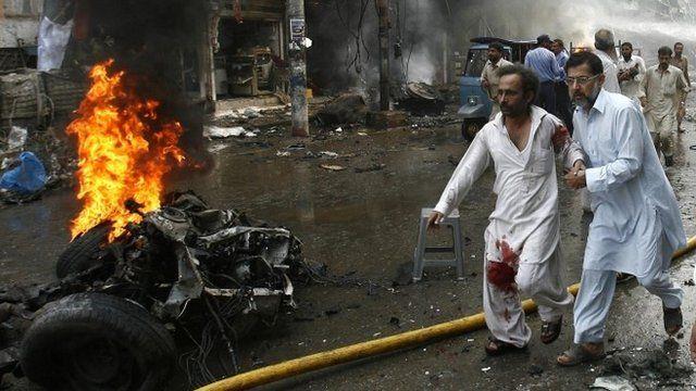 Aftermath of Pakistan blast