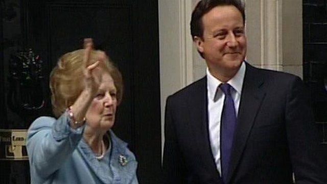 Margaret Thatcher and David Cameron