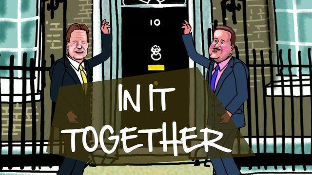 Cartoon of Clegg and Cameron