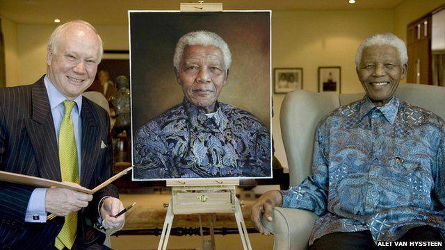 Richard Stone and Nelson Mandela