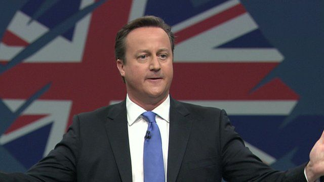 David Cameron closing the Tory Party conference