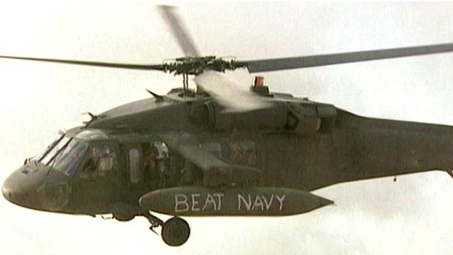 Blackhawk helicopter in Somalia