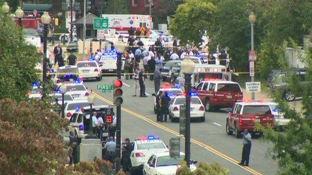 Emergency teams at scene of shooting