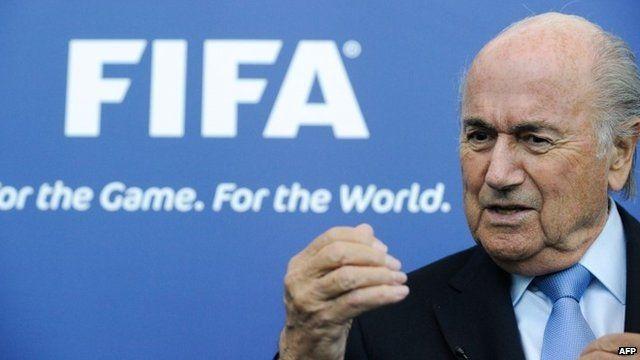 President of FIFA, Joseph Blatter