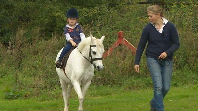 Harry Edwards-Brady riding his horse