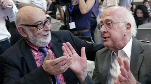 Francois Englert and Peter Higgs