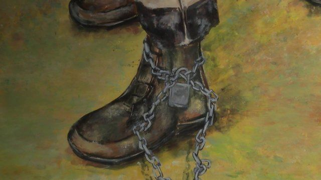 A painting from the Strength and Vulnerability exhibition