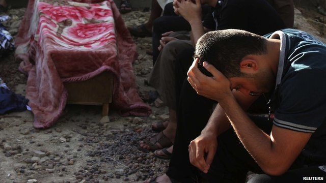 Mourners in Baghdad
