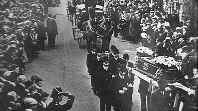 Funeral procession for Senghenydd victims