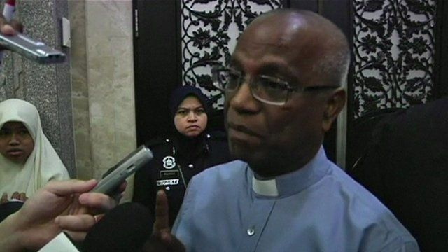 Editor of Catholic Newspaper The Herald Lawrence Andrew speaks to the press about the Malaysian court ruling