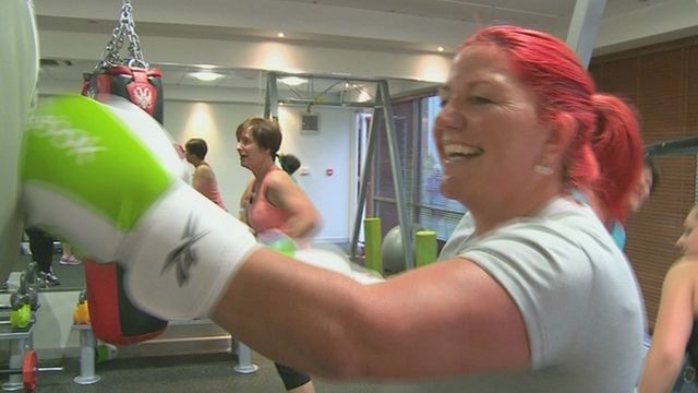 Lisa Parsonage in the gym